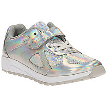 Buy Clarks Adven Maze Trainers, Silver/Metallic Online at johnlewis.com