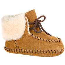 Buy UGG Sparrow Pre-Walker Suede Moccasin Boots, Chestnut Online at johnlewis.com