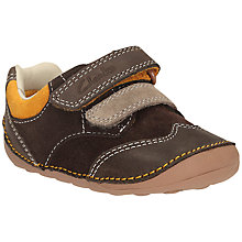 Buy Clarks Pre Walker Tiny Flash Shoes, Brown/Orange Online at johnlewis.com