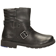 Buy Clarks Ines Dot Leather Boots, Black Online at johnlewis.com