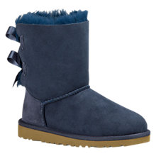 Buy UGG Children's Bailey Bow Sheepskin Boots, Navy Online at johnlewis.com