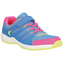 Buy Clarks Cross Dart Running Trainers, Blue/Pink Online at johnlewis.com