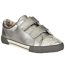 Buy John Lewis Ellie Snake Metallic Shoes, Silver Online at johnlewis.com