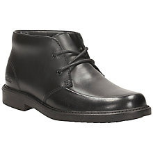 Buy Clarks Marine Top Laced Leather Ankle Boot, Black Online at johnlewis.com