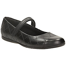 Buy Clarks Dance Roxy Leather Shoes, Black Online at johnlewis.com