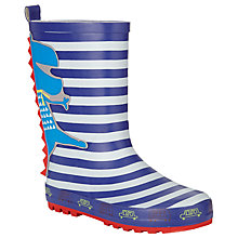 Buy John Lewis 3D Dinosaur Wellington Boots, Blue/Multi Online at johnlewis.com