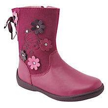 Buy Start-Rite Super Soft Princess Leather Boots, Berry Online at johnlewis.com