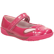 Buy Clarks Nibble Cute Patent Leather Shoes, Berry Online at johnlewis.com