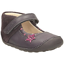 Buy Clarks Pre Walker Little Zoe Shoes, Brown/Pink Online at johnlewis.com
