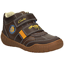 Buy Clarks Stomp Grip Trainer Shoes, Brown/Orange Online at johnlewis.com