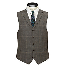 Buy JOHN LEWIS & Co. Hanbury Milled Prince of Wales Check Waistcoat, Biscuit Online at johnlewis.com