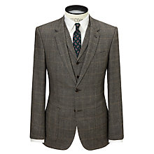 Buy JOHN LEWIS & Co. Hanbury Milled Prince of Wales Check Suit Jacket, Biscuit Online at johnlewis.com