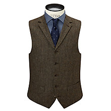 Buy JOHN LEWIS & Co. Bennett Donegal Wool Tailored Waistcoat, Sepia Online at johnlewis.com