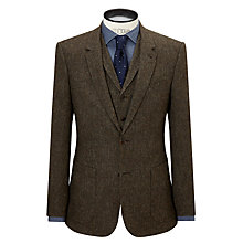 Buy JOHN LEWIS & Co. Bennett Donegal Wool Tailored Suit Jacket, Sepia Online at johnlewis.com