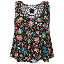Buy Miss Selfridge Floral Crochet Top, Multi Online at johnlewis.com