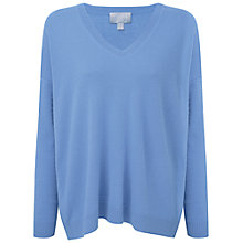 Buy Pure Collection Cashmere Relaxed V Neck Sweater Online at johnlewis.com