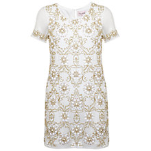 Buy Miss Selfridge Jessica Shift Dress, White Online at johnlewis.com