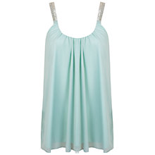 Buy Miss Selfridge Embellished Cami, Mint Green Online at johnlewis.com
