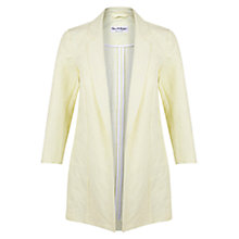 Buy Miss Selfridge Jacquard Duster Coat, Yellow Online at johnlewis.com