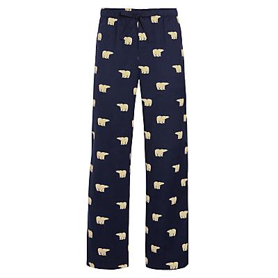 John Lewis Brushed Cotton Polar Bear Pyjama Bottoms, Navy