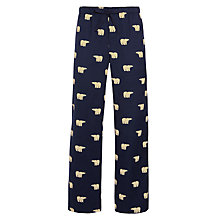 Buy John Lewis Brushed Cotton Polar Bear Lounge Pants, Navy Online at johnlewis.com