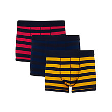 Buy John Lewis Rugby Stripe Trunks, Pack of 3 Online at johnlewis.com