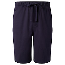 Buy John Lewis Cotton Jersey Shorts, Navy Online at johnlewis.com