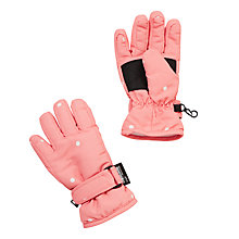 Buy John Lewis Polka Dot Ski Gloves, Pink Online at johnlewis.com