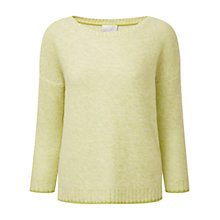 Buy Pure Collection Cashmere Relaxed Sweater, Limeade Twist Online at johnlewis.com