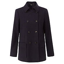 Buy Jigsaw Pea Coat, Navy Online at johnlewis.com
