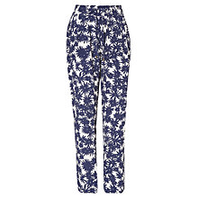 Buy Phase Eight Kayleigh Printed Trousers, Navy/Ivory Online at johnlewis.com