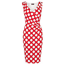 Buy Phase Eight Sicily Spot Dress, Red / White Online at johnlewis.com