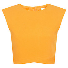 Buy Miss Selfridge Crepe Wrap Top, Orange Online at johnlewis.com