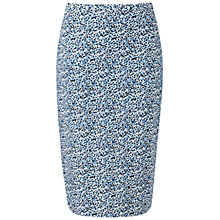 Buy Pure Collection Textured Pencil Skirt, Tonal Blue Online at johnlewis.com