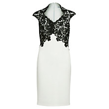 Buy Gina Bacconi Swirl Flower Guipure Dress Online at johnlewis.com