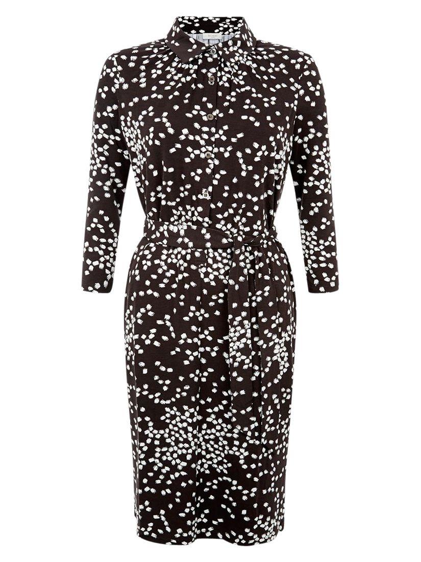 hobbs anna shirt dress choc/ivory, hobbs, anna, shirt, dress, choc/ivory, 6|14|12|16|10|8, fashion magazine, women, brands a-k, womens dresses, 1903628