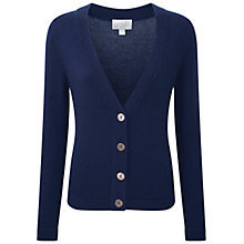 Buy Pure Collection Barley Cashmere Stepped Hem Cardigan Online at johnlewis.com