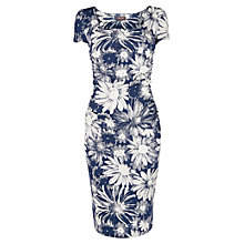 Buy Phase Eight Nicola Print Dress, Navy/White Online at johnlewis.com