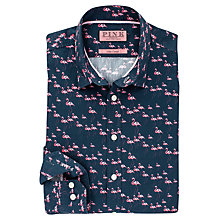 Buy Thomas Pink Bentley Flamingo Print Shirt, Navy/Pink Online at johnlewis.com