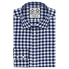 Buy Thomas Pink Plato Check Classic Fit XL Sleeve Shirt, Blue/Navy Online at johnlewis.com