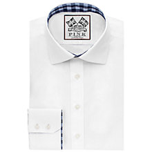 Buy Thomas Pink Plato Plain Slim Fit Shirt, White Online at johnlewis.com