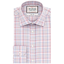 Buy Thomas Pink Stregon Classic Fit Check Shirt, Red/Pink Online at johnlewis.com