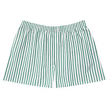 Buy Thomas Pink Wirksworth Stripe Boxer Shorts, Green Online at johnlewis.com