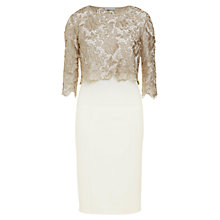 Buy Gina Bacconi Metallic Guipure Top Dress Online at johnlewis.com