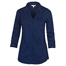 Buy Fat Face Spot Cotton Shirt, Indigo Online at johnlewis.com