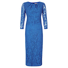 Buy Planet Pleat Lace Dress, Cornflower Blue Online at johnlewis.com