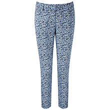 Buy Pure Collection Print Capri Trousers, Tonal Blue Online at johnlewis.com