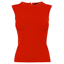 Buy Karen Millen Dot Stripe Bandage Knit Top, Red Online at johnlewis.com