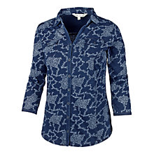 Buy Fat Face Climbing Clover Cotton Shirt, Indigo Online at johnlewis.com