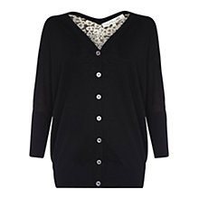 Buy Damsel in a dress Ebony Silk Cardigan, Black Online at johnlewis.com